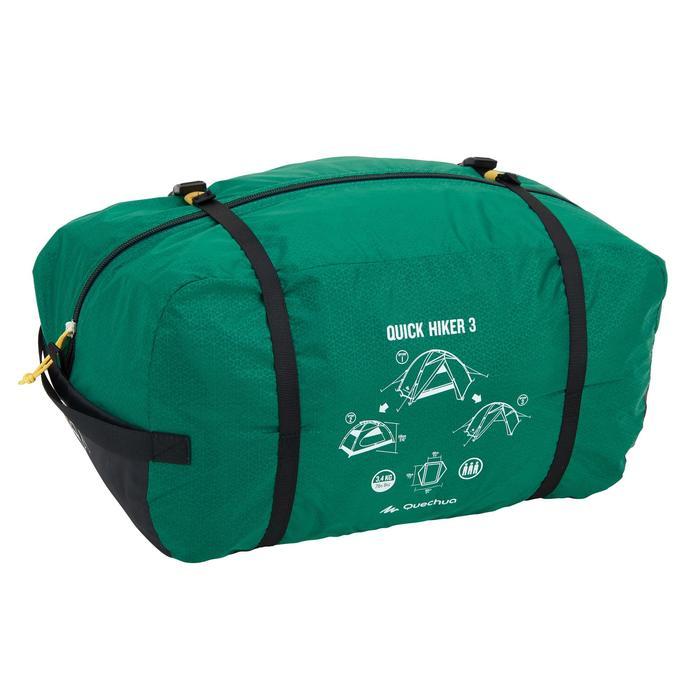 Tente de trek Quick Hiker 3 personnes verte - 1099245
