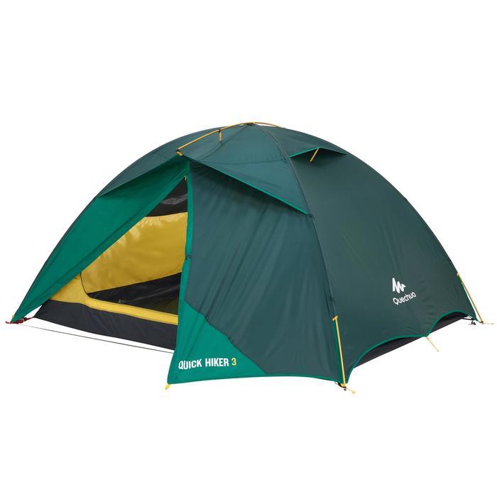 Tente de trek Quick Hiker 3 personnes verte - 1099250