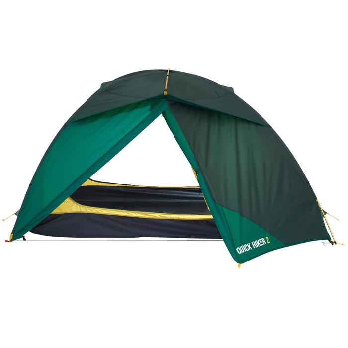 Tente de trek Quick Hiker 2 personnes verte