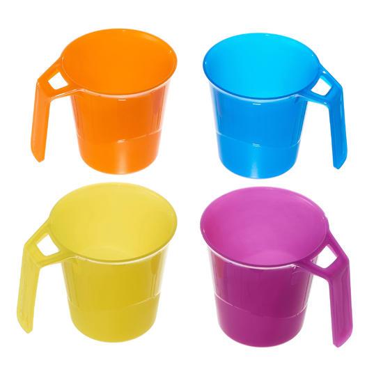 Set van 4 plastic bekers voor trekking 0,3 l - 1099310