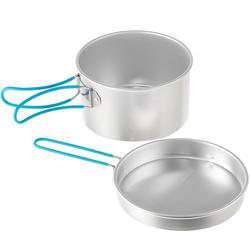 Kookset voor 2 personen aluminium (1,5 liter) - 1099340