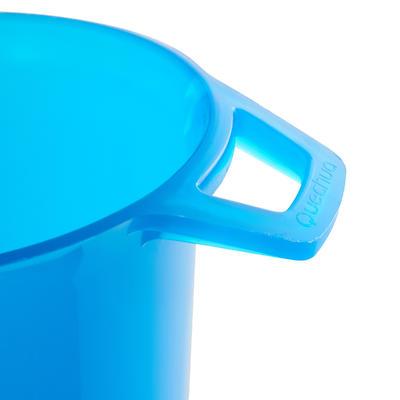 Ustensiles randonnée verre bleu