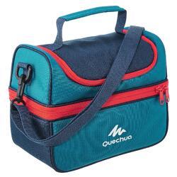 Nevera Lunch box MH500 senderismo (con 2 fiambreras) 4,4 L azul