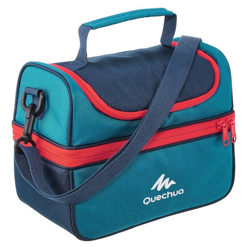 OBĚDOVÉ BOXY NA TURISTIKU Kempování - Lunch box 4,4 l modro-červený QUECHUA - Vybavení na kempování