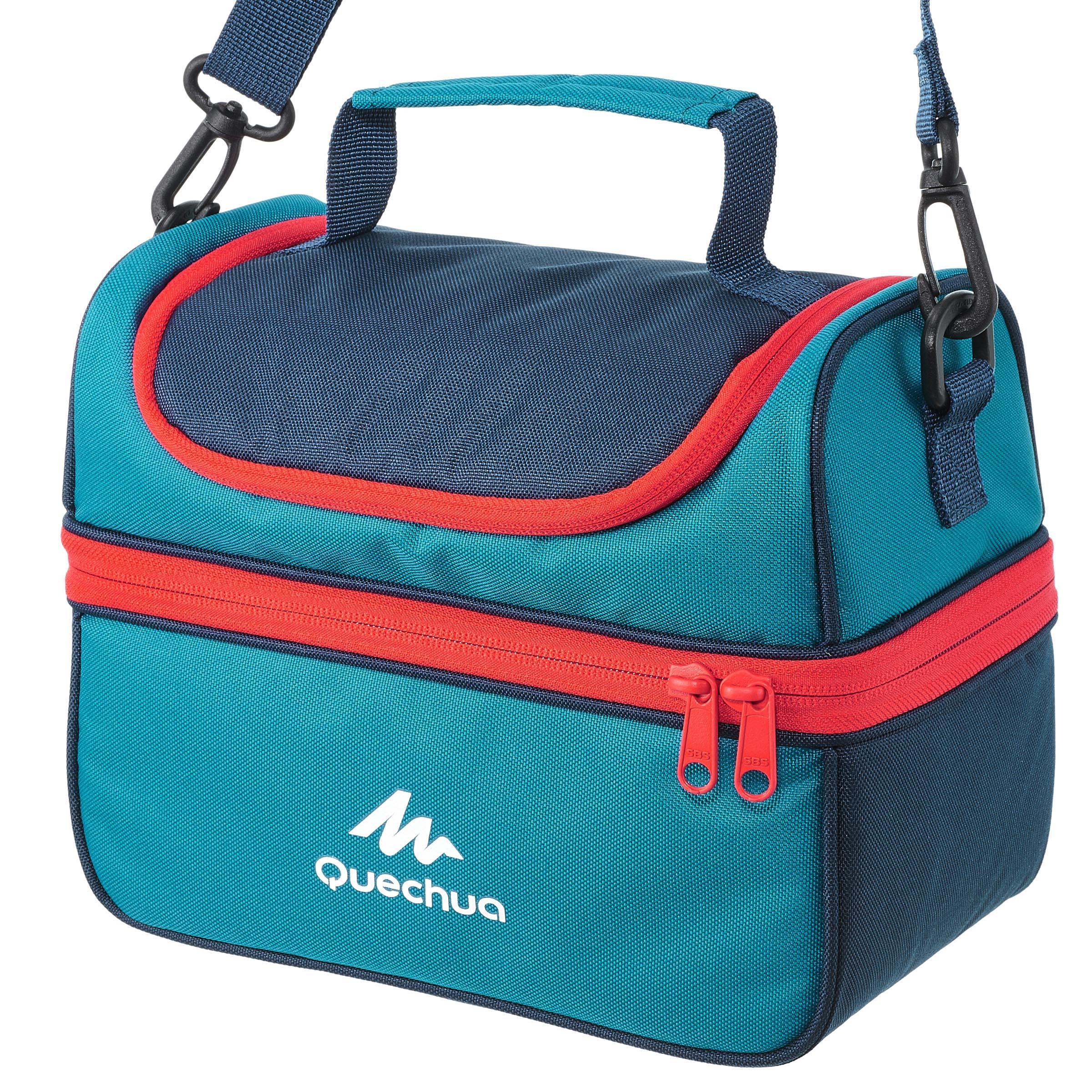 Glacière boîte à lunch MH500 randonnée avec 2 contenants 4,4 litres bleu