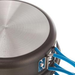 Kookset voor trekkers aluminium 4 personen (2,5 liter) met antikleeflag - 1099386