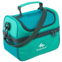 Nevera Lunch box MH500 senderismo (con 2 fiambreras) 4,4 litros verde