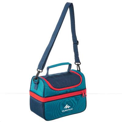 Glacière Lunch box MH500 randonnée (avec 2 boîtes alimentaires) 4,4 litres bleu