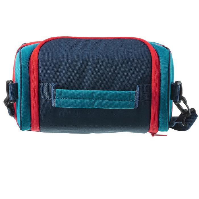 Koeltas voor wandelen Lunch Box (met 2 bewaardoosjes) 4,4 liter blauw/rood