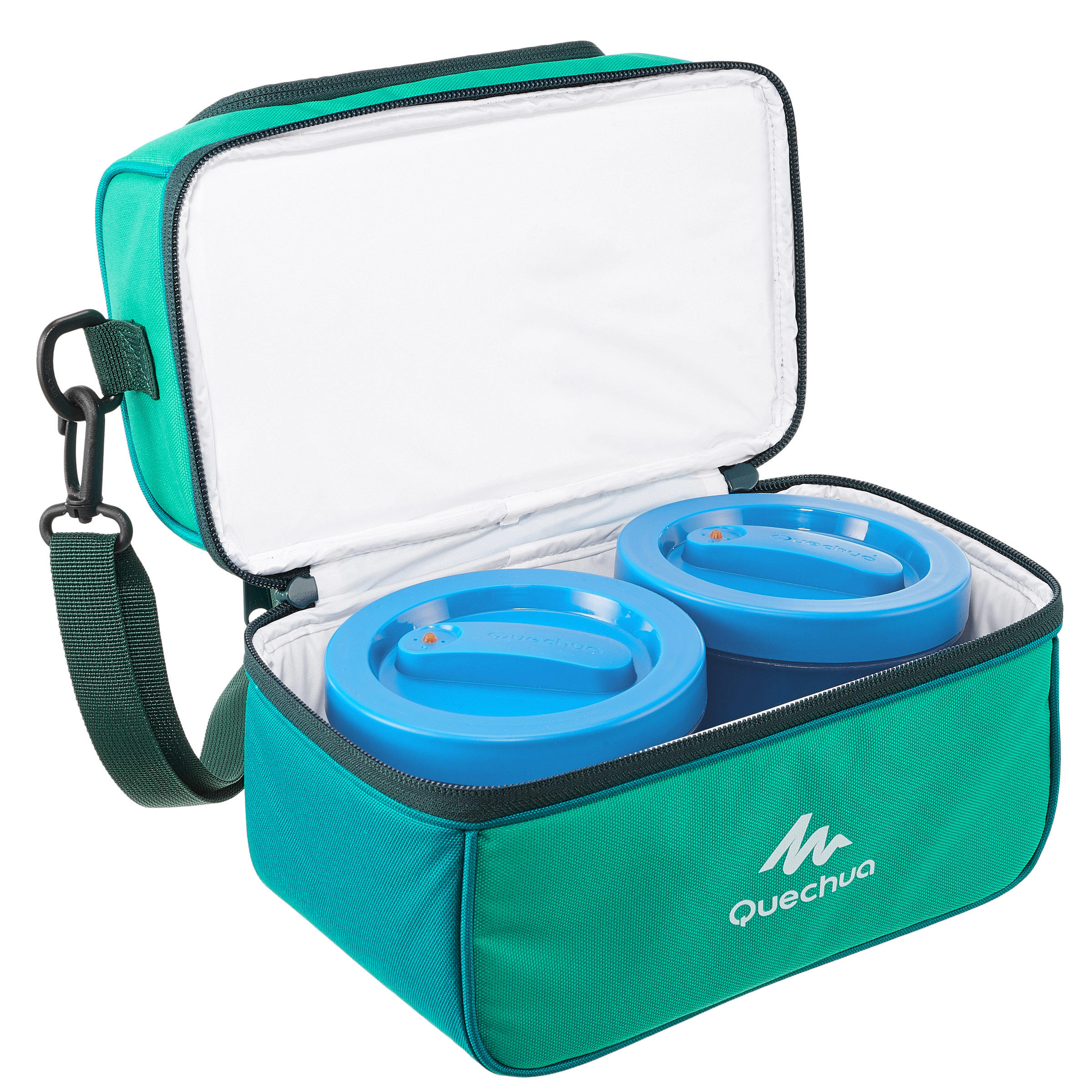MH500 4.4 L Hiking Lunch Box Ice Box (with 2 Food Boxes) - Green