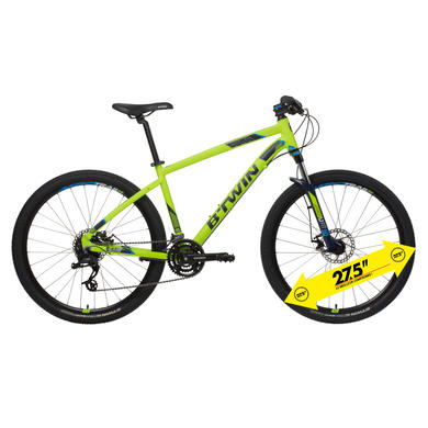 "27.5"" Rockrider 520 Mountain Bike - Yellow"