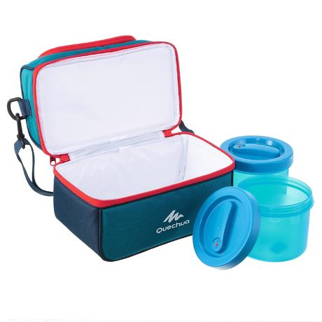 glaci re lunch box randonn e avec 2 bo tes alimentaires 4 4 litre bleu quechua. Black Bedroom Furniture Sets. Home Design Ideas