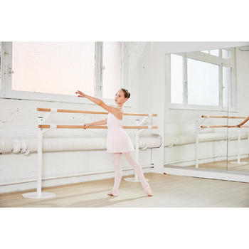 Justaucorps de danse classique fines bretelles fille SYLVIA blanc - 1099640
