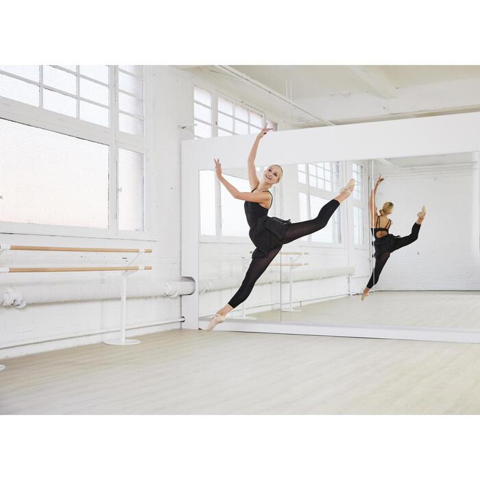 Jupette noire portefeuille en voile de danse classique femme. - 1099642