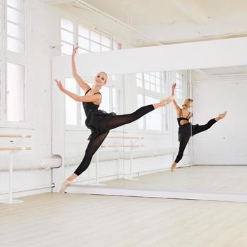 Jupette noire portefeuille en voile de danse classique femme. - 1099681
