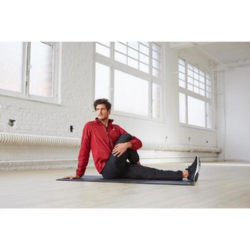 Gymmat 100 pilates stretching maat S 6,5 mm zwart