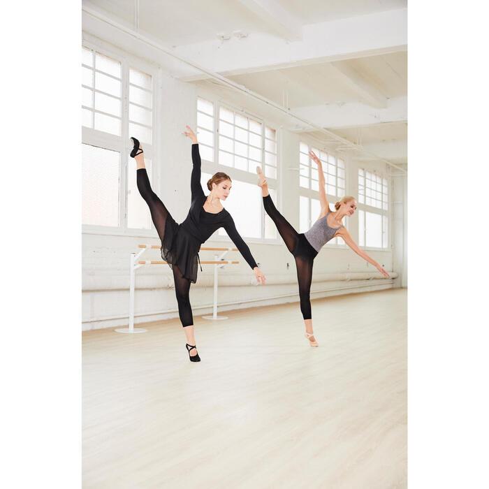 Balletpakje met buste-ondersteuning voor dames gemêleerd grijs