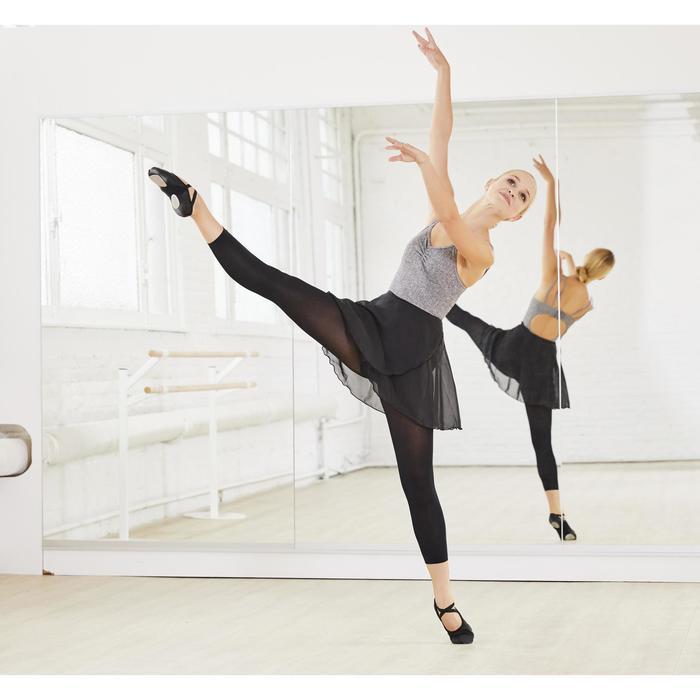 Jupette noire portefeuille en voile de danse classique femme.