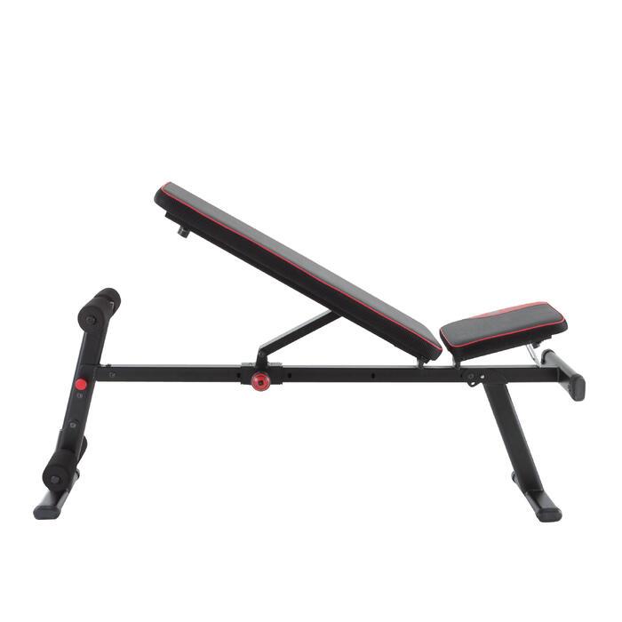 Opklapbare en schuin te zetten fitnessbank 500 DOMYOS - 1099719
