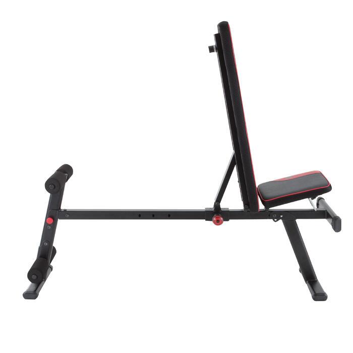 Opklapbare en schuin te zetten fitnessbank 500 DOMYOS - 1099721