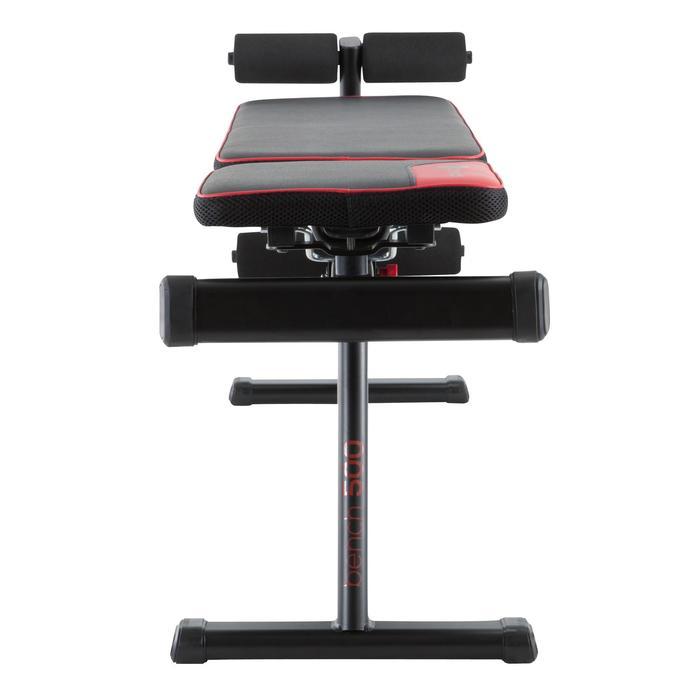Opklapbare en schuin te zetten fitnessbank 500 DOMYOS - 1099722