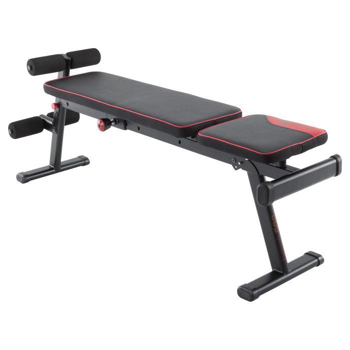 Opklapbare en schuin te zetten fitnessbank 500 DOMYOS - 1099733