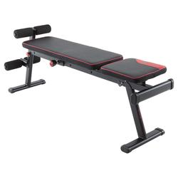 Banc de musculation 500 pliable et inclinable DOMYOS