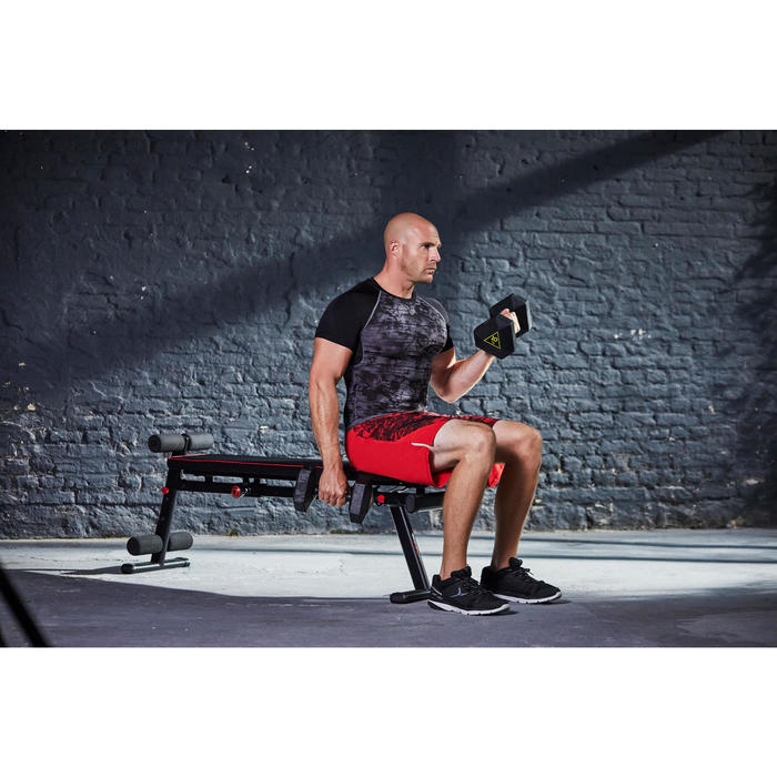 Banc de musculation 500 pliable et inclinable