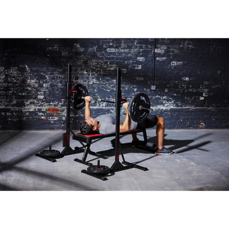 repose barre musculation rack 100 domyos by decathlon. Black Bedroom Furniture Sets. Home Design Ideas