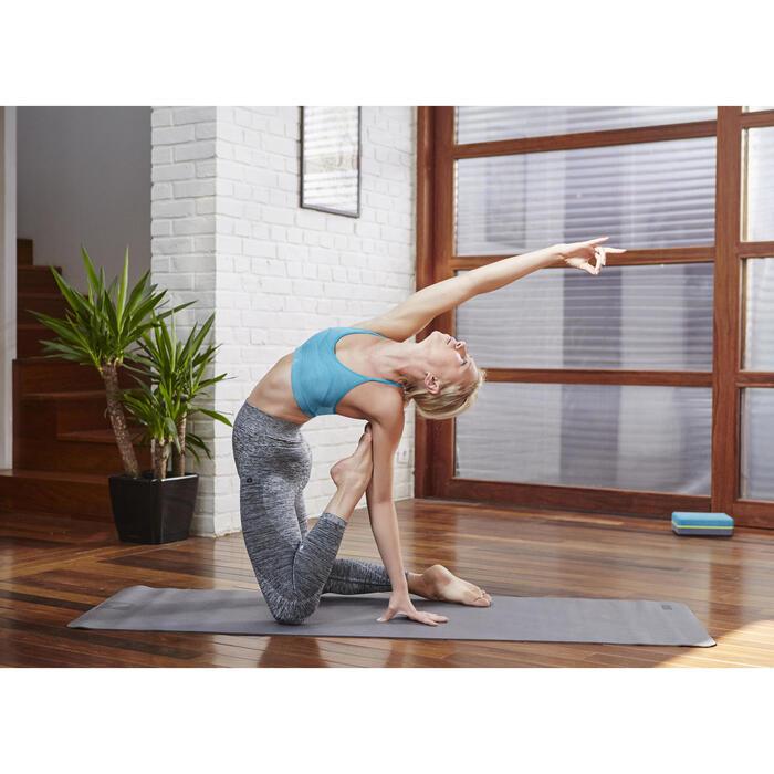 Fitnessbeha Confort+ voor dames gemêleerd grijs