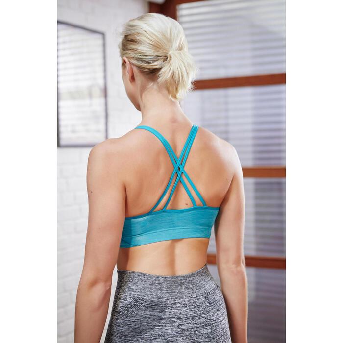 Fitnessbeha Confort+ voor dames zwart