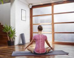 Yoga T-shirt in biokatoen voor dames - 1099840