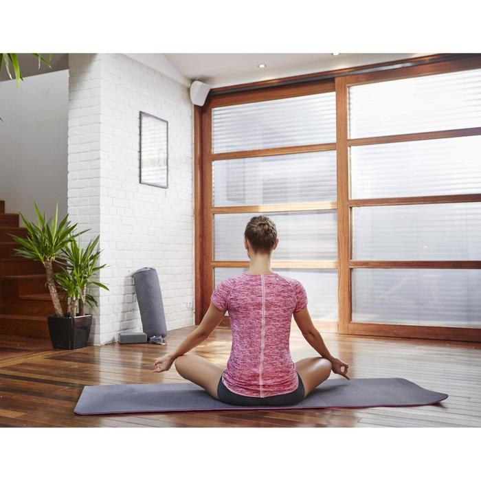 T shirt yoga doux femme en coton issu de l'agriculture biologique noir - 1099840