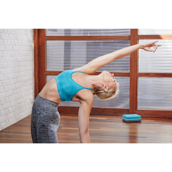 Brassière Confort + fitness cardio femme grise 100 Domyos - 1099850