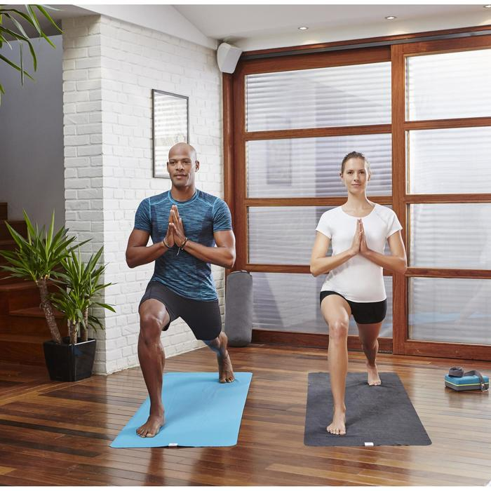Short yoga algodón biológico mujer gris rosa