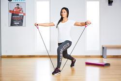 Dameslegging Fit+ voor gym en pilates, slim fit - 1099878