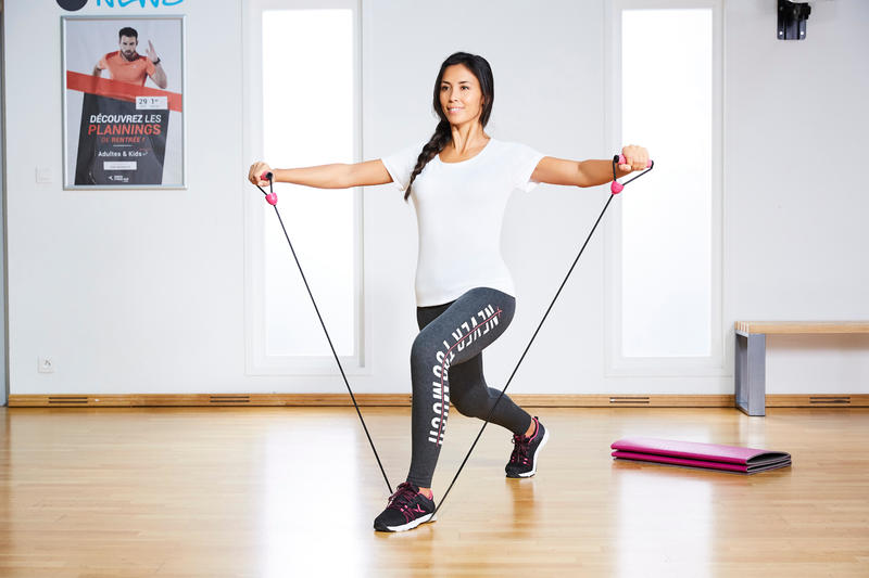 900 Pilates & Toning High Resistance Elastic Band with Handles
