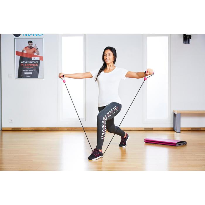 Elastikband Gym Hard 900 mit Griffen Pilates Toning hoher Widerstand