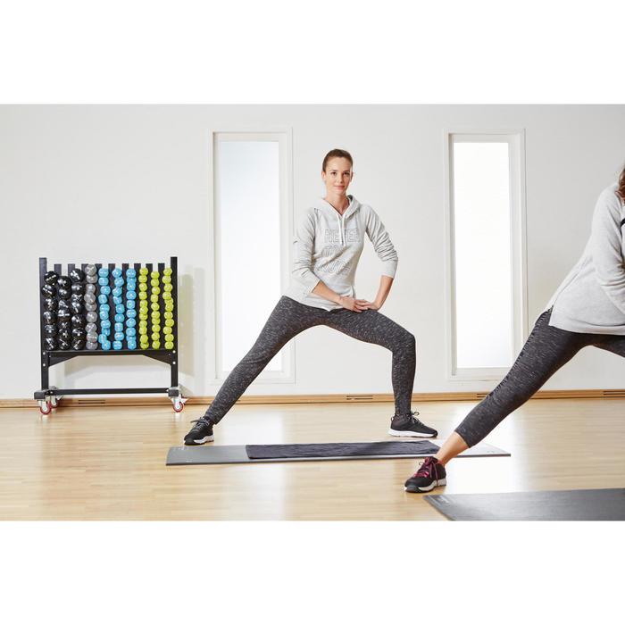 Sporthandoek fitness klein, grijs