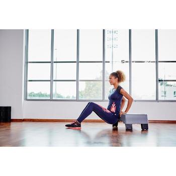 T-shirt galbant SHAPE+ fitness femme noir et violet - 1099906