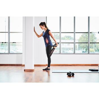 T-shirt galbant SHAPE+ fitness femme noir et violet - 1099911