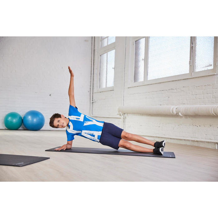 Short de gimnasia niño azul marino
