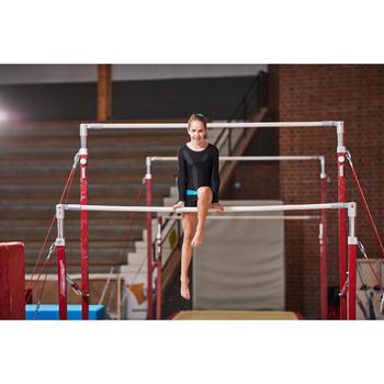Gymshorty voor meisjes (toestelturnen en RG) lovertjes zwart/roze.