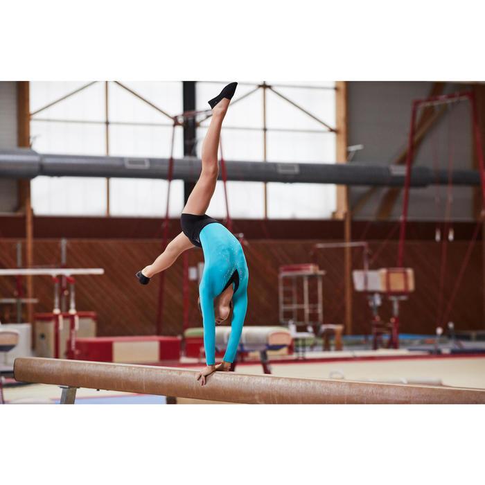 Chausson de Gymnastique Artistique en mesh 500 noir. - 1099931