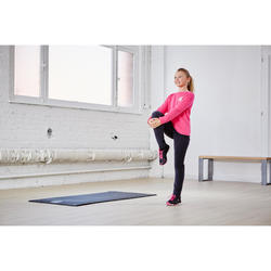 Survêtement 100 Gym fille rose imprimé Warm'y