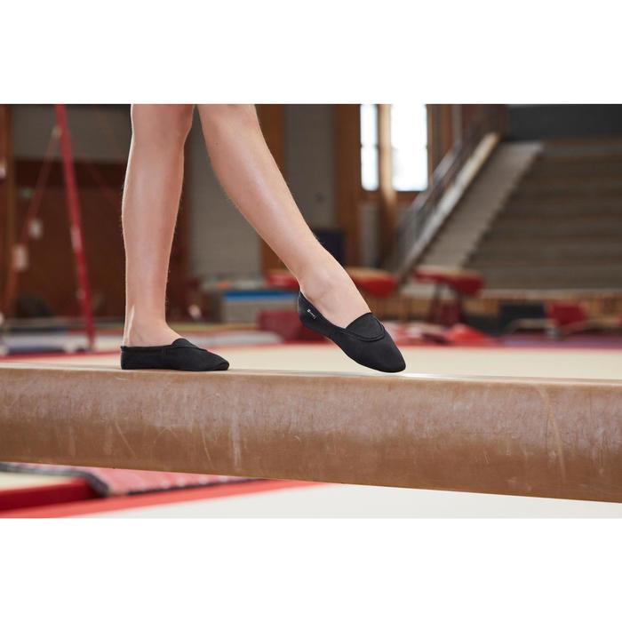 Chausson de Gymnastique Artistique en mesh 500 noir. - 1099947