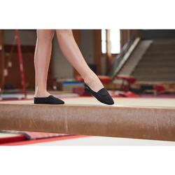 Gymnastikschuhe 500 Kunstturnen Mesh schwarz