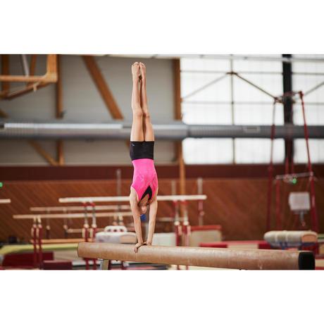 Justaucorps Sans Manches Gymnastique F Minine Rose Sequins Domyos By Decathlon