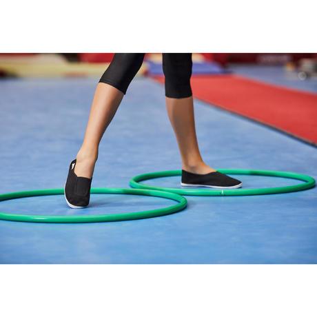 chaussons de gym l 39 cole enfant noir rythm 300 domyos. Black Bedroom Furniture Sets. Home Design Ideas