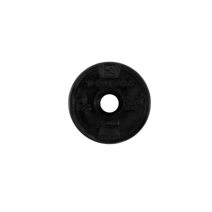 Disque caoutchouc de musculation 28 mm - 110074